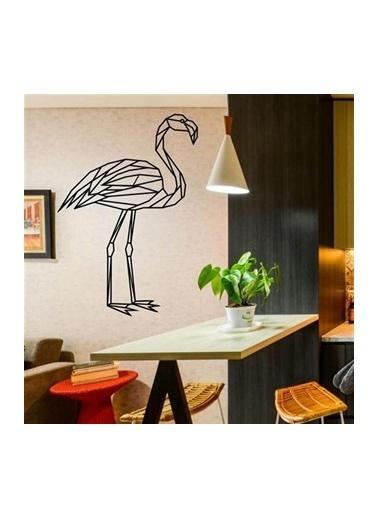 Baupor Flamingo Metal Duvar Dekoru Siyah